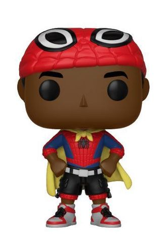 Spider-Man Animated POP! Marvel Vinyl Cabezón Miles with Cape 9 cm