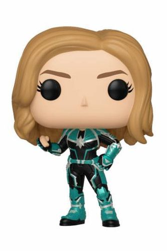 Captain Marvel POP! Marvel Vinyl Cabezón Vers 9 cm