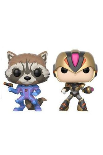 Marvel vs. Capcom Infinite POP! Games Vinyl Pack de 2 Figuras Rocket vs. MegaMan X 9 cm